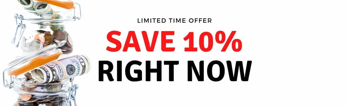 Save An Extra 10% On Your Next Order. Scroll Down To See How.